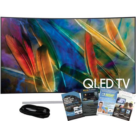 "Samsung 65"" QLED Curved 4K HDR Elite TV w/ HDMIand App Pack"