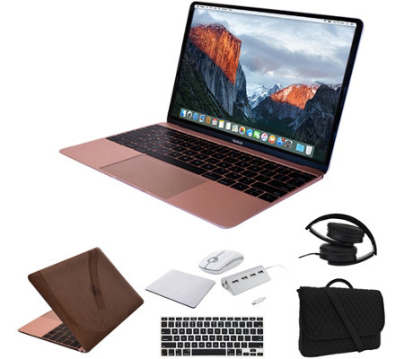 "Apple Macbook 12"" i5, 8GB, 512GB SSD & Accessories - Rose Gol"