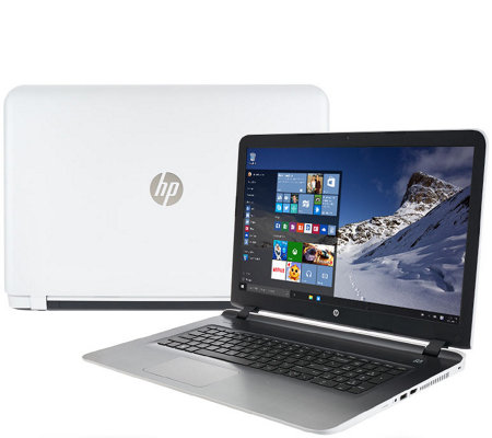 "HP 17"" Laptop Windows 10 6GB RAM 1TB HDD AMD Quad Core LifetimeSupport"