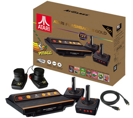 Atari Flashback 8 Gold Deluxe HD Console with 120 Games and Accessories