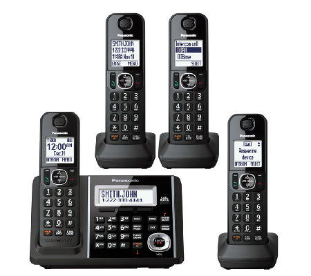 Panasonic Expandable Answering System with FourHandsets