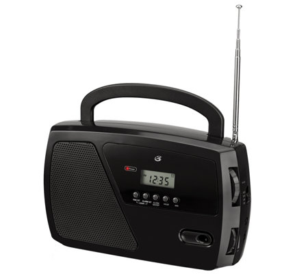 GPX Shortwave AM/FM Radio with Digital Clock and LCD Display