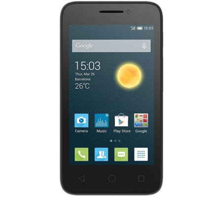 "Alcatel One Touch Pixi3 4.5"" Unlocked GSM 4G LTE Smartphone"