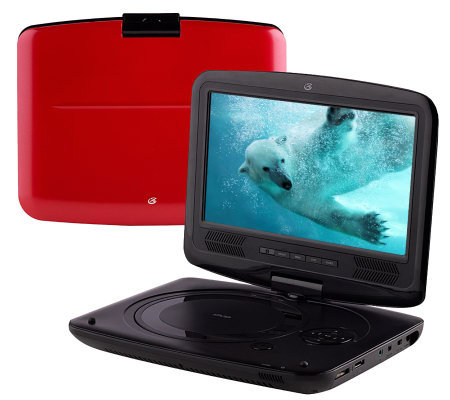 "GPX 9"" LCD Portable DVD Player with Swivel Screen, & 7-pc. Access."
