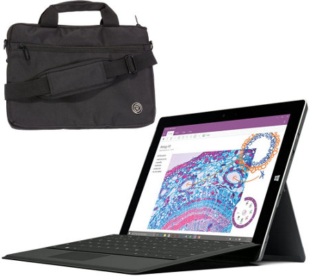 Microsoft Surface 3 64GB Intel Quad Core Office,Keyboard Case, Support