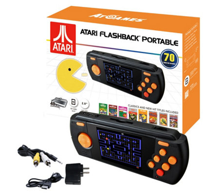 Atari Flashback Portable Deluxe Handheld with 70 Games and Accessories