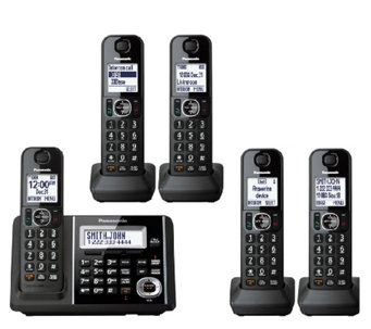Panasonic Expandable Answering System with FiveHandsets - E283361