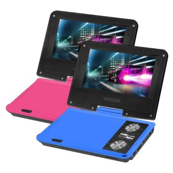 Impecca 7 Two-Pack Portable Swivel DVD Players