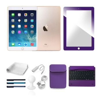 Apple iPad Mini 4 128GB WiFi w/ Keyboard, Screen Protect, Pouch & Acc.