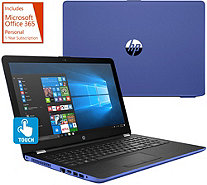 "HP 17"" Touch Laptop Intel i3 8GB RAM 2TB HDD w/ Backlit Keys & MS Office 365 - E231362"