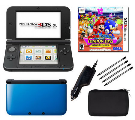nintendo 3ds xl bundle with mario soniclondon2012. Black Bedroom Furniture Sets. Home Design Ideas