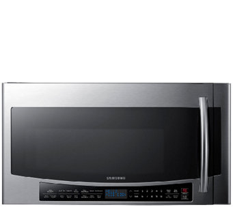 Samsung 1.7 Cubic Foot Over-the-Range Microwavewith Slim Fry - E285862