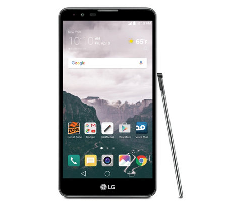 Boost Mobile LG Stylo 2 with Car Charger and App Pack