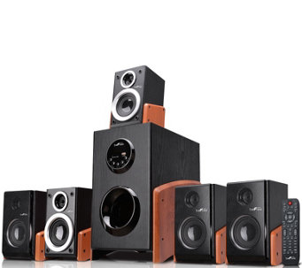 beFree 5.1-Channel Surround Sound Bluetooth Speaker - Wood - E289862