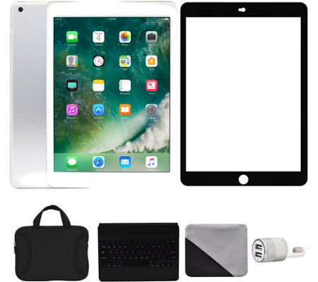 "Apple iPad 9.7"" 128GB Wi-Fi & 4G with Accessories - Silver"