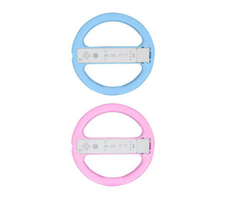 Steering Wheel Compatible with Wii Motion Plus- 2 Pack