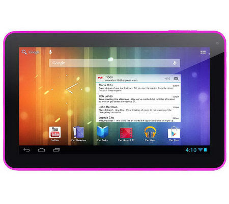 "XO Vision Ematic Genesis Prime XL 10"" 4GB Tablet - Android 4."