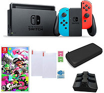 Nintendo Switch Neon with Splatoon 2 and Accessories - E294063