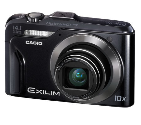 Casio Exilim Digital Camera with 14.1MP Built-in GPS and 2GB SD Card
