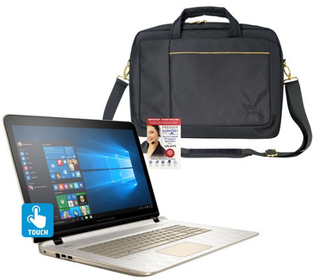 """hp 17"""" touch laptop """"gold luxe"""" edition windows 10, 1tb w"""