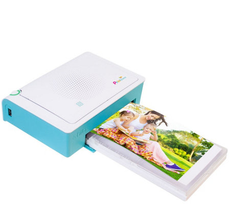 "Prinhome 4""x6"" Portable WiFi Photo Printer w/120 Sheets of Paper & 2 Inks"