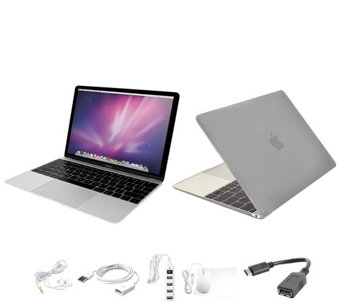 "Apple MacBook 12"" with Clip Case, Wireless Mouse and Accessories - E230064"