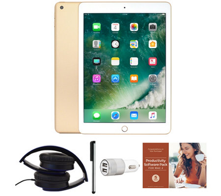 "Apple iPad 9.7"" 32GB Wi-Fi Tablet with Headphones and Accessories"