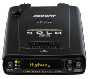 Escort Solo S3 Windshield Radar Detector - E268064
