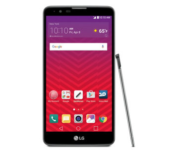 Virgin Mobile LG Stylo 2 with Car Charger. AppPack, & Stylus - E289664