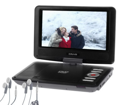 "Craig 9"" LCD Portable DVD Player with Swivel Screen, and Accessories"