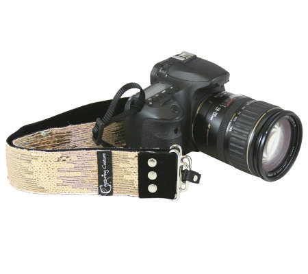 Capturing Couture Sequin Ombre Designer Adjustable Camera Strap