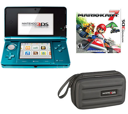 Nintendo 3DS with Mario Kart 7 & Carrying Case