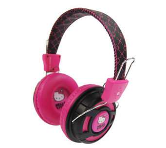 Hello Kitty Over-the-Ear Foldable Stereo Headphones - E267465