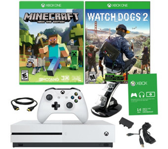 Xbox One S 500GB Minecraft Bundle with 2 Games - E290266