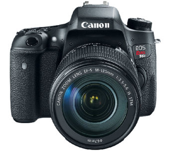 Canon EOS Rebel T6s Wi-Fi Digital Camera & EF-s 18-135mm Lens - E282167