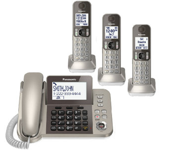 Panasonic Digital Phone & Answering System w/ 3Handsets - E283367