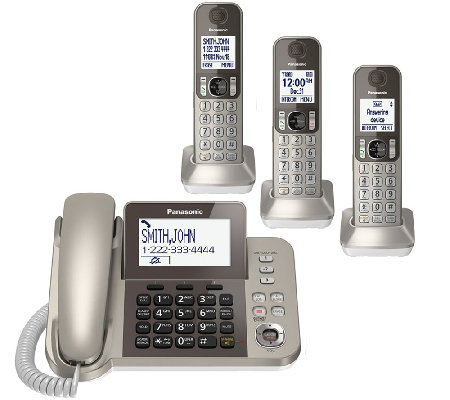 Panasonic Digital Phone & Answering System w/ 3Handsets