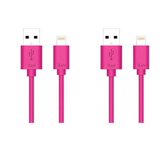 iLuv 3' Premium Lightning Cable - Set of 2 - E285567