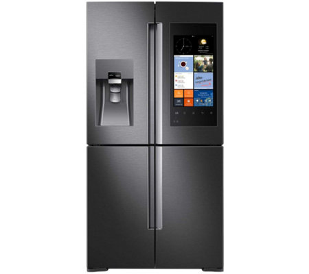 Samsung 28 Cu. Ft. 4-Door Refrigerator with Family Hub - Blac