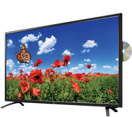"GPX 40"" DLED 4K Ultra HDTV with Built-inDVD Player"