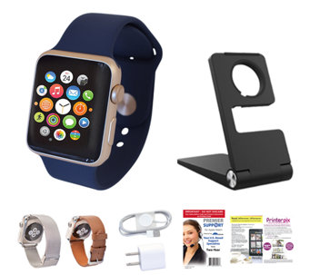 Apple Watch Series 1 Sport 38mm, Leather & Metal Band with - E230068