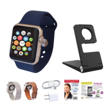 Apple Watch Series 1 Sport 38mm, Leather & Metal Band