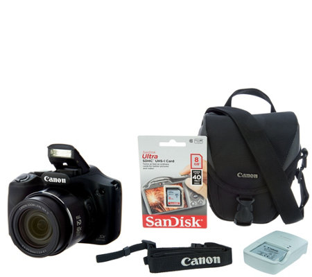 Canon PowerShot SX530 HS Wi-Fi 16MP 50x Zoom Digital Camera with Accs.