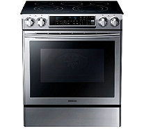 "Samsung 30"" Stainless Steel Electric Slide-in Range - E285868"