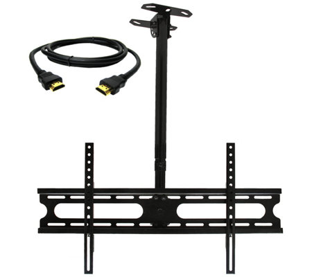 "MegaMounts Tilt and Swivel Ceiling Mount 37""-70"" w/ HDMI Cable"