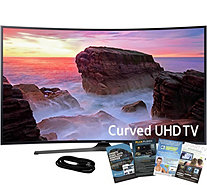 "Samsung 55"" Curved Smart Ultra HDTV with HDMIand App Pack - E291268"