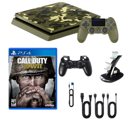 Sony Playstation 4 1TB LE Camo Call of Duty WWII Bundle