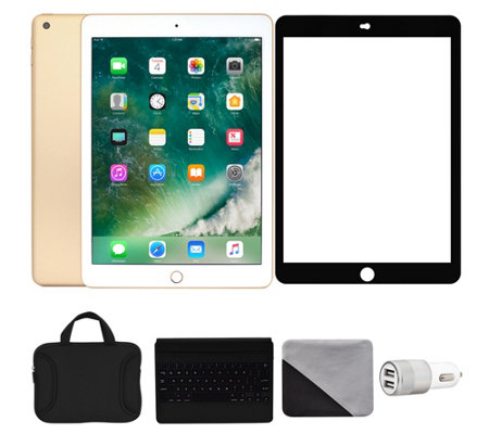 "Apple iPad 9.7"" 128GB Wi-Fi & 4G with Accessories - Gold"