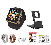 Apple Watch Sport Series 1 42MM w/Leather & Metal Bands, - E230069