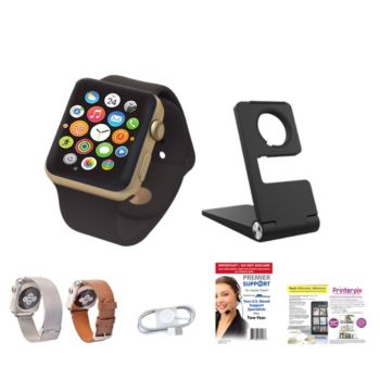 Apple Watch Sport Series 1 42mm with Leather & Metal Bands